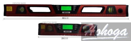 "DEVON 9405 電子水平尺 可測量 ""水平、垂直、坡度、角度與斜度測量  25cm"